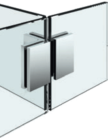 8197 Flamea+ Glass/Glass-Glass corner bracket 90°