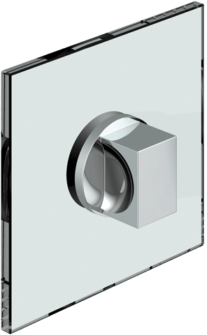 8379 Glass door knob double-sided, flush-mount